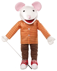 Mouse with sneakers puppet