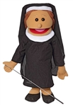 Nun Full Body Puppet w/ Hispanic Skin