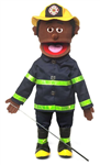 "25"" Fireman (Black) Full Body Puppet"