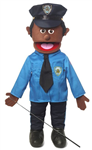 "25"" Policeman (Black) Full Body Puppet"