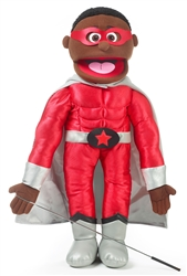 Black Superhero Boy - FullBody Puppet