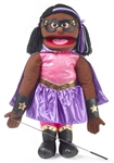Black Superhero Girl - Full Body Puppet