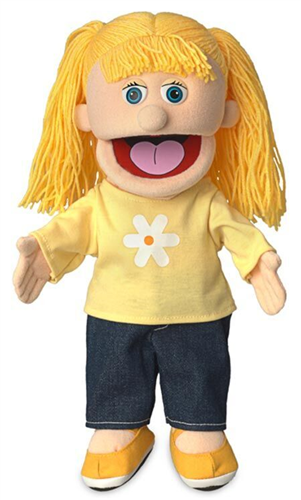"""Glove Puppet Silly Puppets Bobby 14/"""" Full Body Hand Peach"""