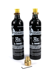 SodaMod Adapter and (2) High Quality Beverage Grade CO2 12oz Air Tank Combo Package