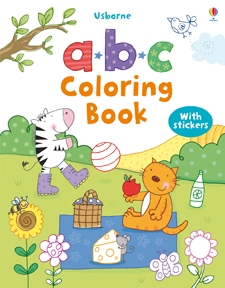 abc First Coloring Book