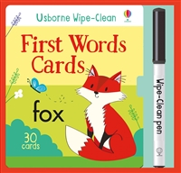 First Words Cards Wipe-Clean