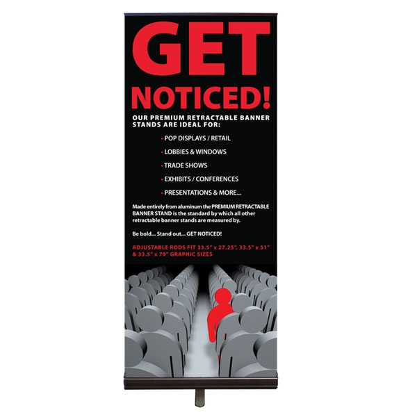 Premium Retractable Banner Stand And Vinyl Graphic - Vinyl banners stands