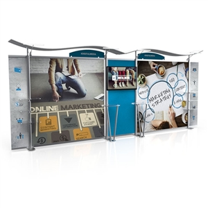 20ft timberline hybrid trade show display with straight sides