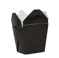 Black Colored Chinese Takeout Boxes in 3 great sizes perfect for favors.