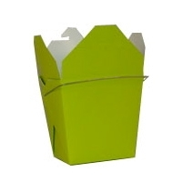 Lime Green Colored Chinese Takeout Boxes in 3 great sizes perfect for favors.