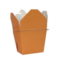 Orange Colored Chinese Takeout Boxes in 3 great sizes perfect for favors.