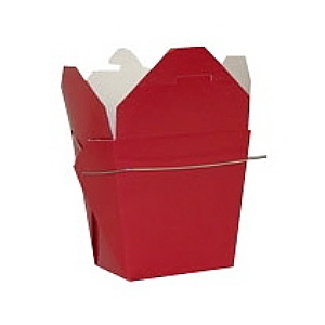 Red Colored Chinese Takeout Boxes in 3 great sizes perfect for favors.