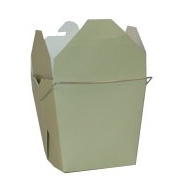 Sage Green Colored Chinese Takeout Boxes in 3 great sizes perfect for favors.