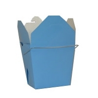 Sky Blue Colored Chinese Takeout Boxes in 3 great sizes perfect for favors.