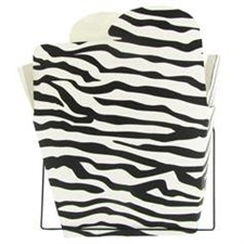 Zebra Print Chinese Takeout Boxes in 3 great sizes perfect for favors.