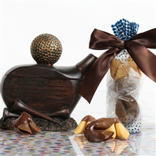 This golf-themed gift box of chocolate covered and gourmet flavored fortune cookies is perfect for any dad!