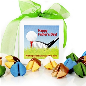 This Dazzle Dozen gift box of chocolate covered and gourmet flavored fortune cookies is perfect for any dad!