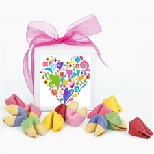 This Dazzle Dozen gift box of colored fortune cookies is the perfect gift perfect for your sweetheart this valentine's day