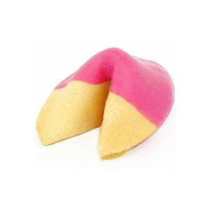 Pink Colored Chocolate Covered Fortune Cookies!