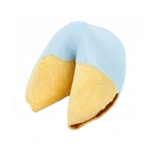 Light Blue Colored Chocolate Covered Fortune Cookies!