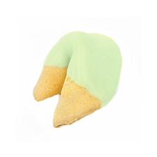 Light Green Colored Chocolate Covered Fortune Cookies!