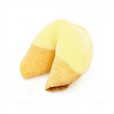 Light Yellow Colored Chocolate Covered Fortune Cookies!