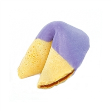 Medium Purple Colored Chocolate Covered Fortune Cookies!