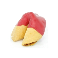 Red Colored Chocolate Covered Fortune Cookies!