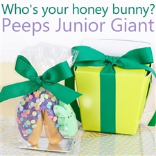 This Easter Peeptacular Junior Giant Fortune Cookie is sure to get your easter bunny hopping.