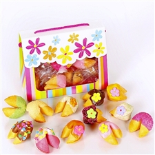 This delightful tote of colored fortune cookies is perfect for mom!