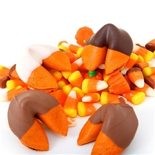 Pumpkin Pie Flavored Fortune Cookies are a perfect treat for the holiday and corporate gift season. Our chocolate covered fortune cookies are baked fresh with your custom sayings inside and are individually wrapped for freshness.
