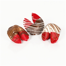 Chocolate covered fortune cookies make the sweetest wedding and party favors! Gourmet fortune cookies with custom sayings inside are also perfect corporate and holiday gifts. These flavored fortune cookies taste like fresh apples!