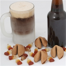 Flavored Fortune Cookies in Root Beer, all custom fortune cookies arrive individually wrapped.