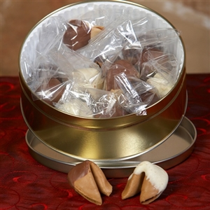 Chocolate Covered Fortune Cookies in Cappuccino Flavor - A great fortune cookie gift