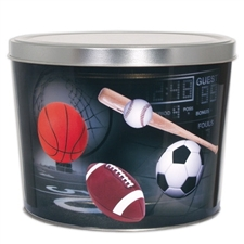 Father's Day fortune cookie sampler in a collectible sports fan gift tin.