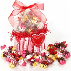 A Whole Lotta Lovin in chocolate covered fortune cookies is the perfect valentine's day gift for your sweetheart.