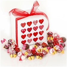 Big Hearted chocolate covered fortune cookies is the perfect valentine's day gift for your sweetheart.