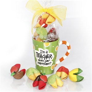 Apples for the teacher? Nah! Lets be different with apple flavored fortune cookies as gifts for teacher.