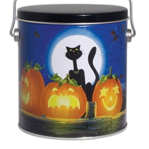 This cute halloween gift tin is stuffed with lots of good fortunes and a variety of our gourmet fortune cookies.