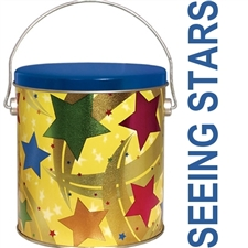 This vibrant star studded gift tin is stuffed with lots of good fortune, birthday wishes and a variety of our gourmet fortune cookies.