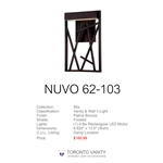 Nuvo 62-103 Stix 1-Light Wall Mounted LED Wall Sconce with Frosted Glass in Patina Bronze Finish