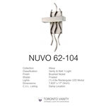 Nuvo 62-104 Wave1-Light Wall Mounted LED Wall Sconce with Frosted Glass in Brushed Nickel Finish