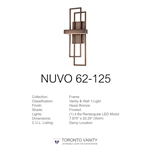 Nuvo 62-125 Frame 1-Light Wall Mounted LED Wall Sconce with Frosted Glass in Hazel Bronze Finish