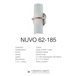 Nuvo 62-185 Tucker 1-Light Wall Mounted LED Wall Sconce in Polished Nickel Finish