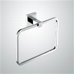 Aqua PIAZZA  Towel Ring - Chrome