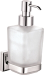 Aqua NUON Wall Mount Frosted Glass Soap Dispenser - Chrome