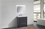 KubeBath Dolce 30″ Gray Oak Modern Bathroom Vanity