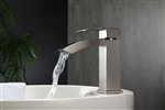 Aqua Balzo Single Lever Wide Spread Bathroom Vanity Faucet - Brushed Nickel