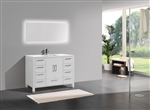 "Anziano 48"" Gloss White Modern Bathroom Vanity"
