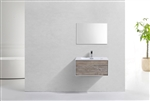 "Divario 30"" Nature Wood Wall Mount Modern Bathroom Vanity"